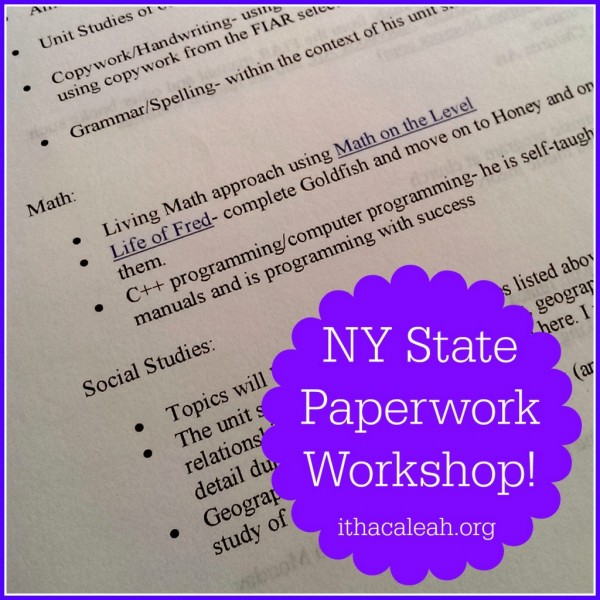 NY State Paperwork Workshop! – Ithaca LEAH