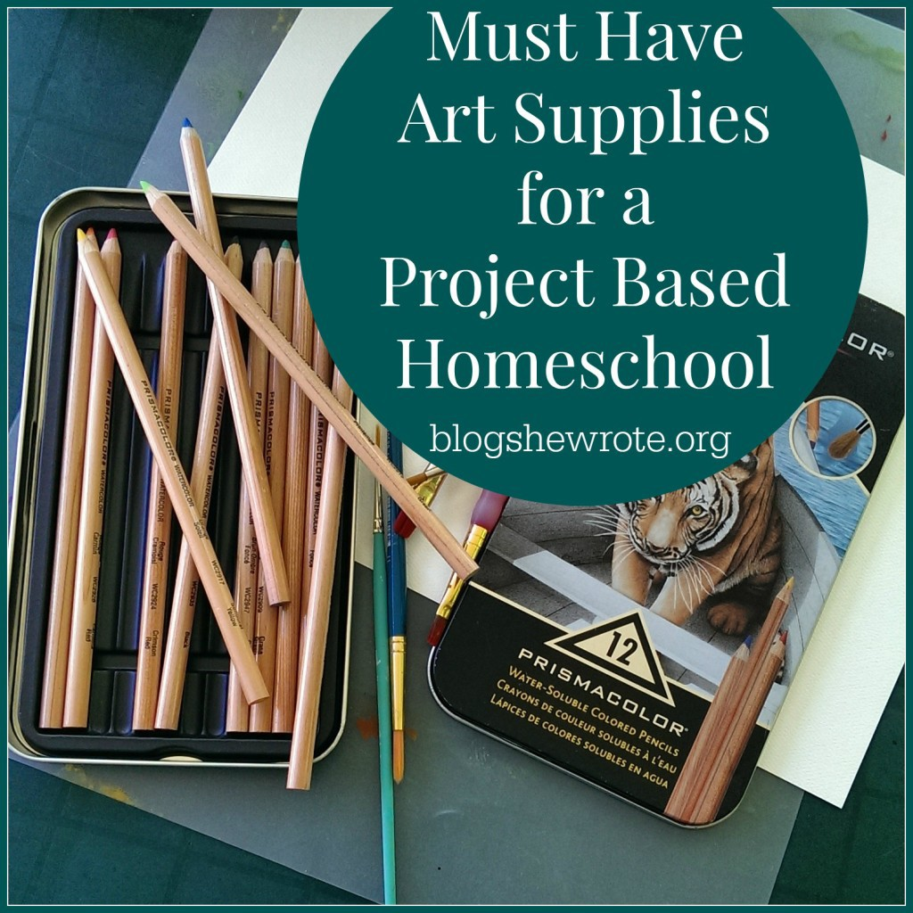 Must Have Art Supplies for a Project Based Homeschool